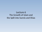 Middle East - The Early Centuries of Islam and Split into