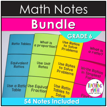 Middle School Math Foldables: Grade 6 BUNDLE