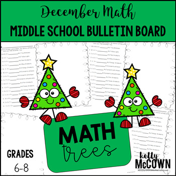 Middle School Math NO PREP Bulletin Board {December}