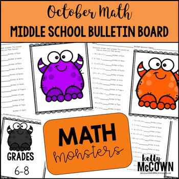 Middle School Math NO PREP Bulletin Board {October}