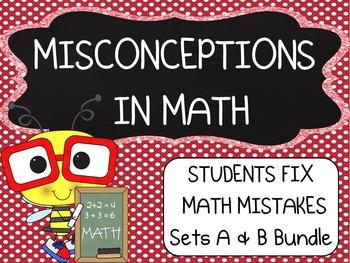 Common Core ~ Middle School Math ~ Students Fix Math Mistakes Bundle