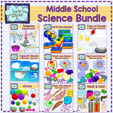 Middle School Science Clip Art Bundle - 441 graphics