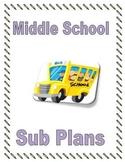 Middle School Sub Binder