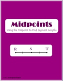 Midpoints of Segments Lesson Packet