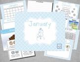 Mimio January Calendar Morning Meeting