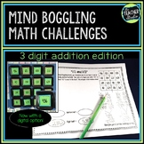 Math Enrichment Boggle:  Addition With Regrouping Edition