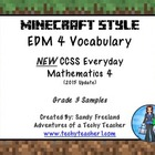 Grade 3 Math Vocabulary Words New Everyday Math 4-Minecraf