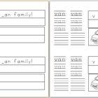 Mini Book: _an Word Family