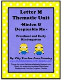 Letter M - Minion and Despicable Me Thematic Unit
