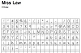 Miss Law's Font