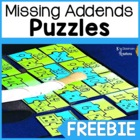Missing Addends Freebie: 1.0A.8