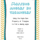 Missing Angle in Triangles