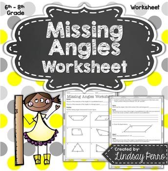 Missing Angles Worksheet