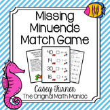 Missing Minuends Match Game