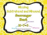 Missing Subtrahend and Minuend Scavenger Hunt (missing num