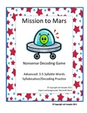 Phonic Decoding Syllabication Card Game - Mission to Mars