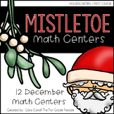 Mistletoe Math Tubs {12 Hands-On Math Activities for December}