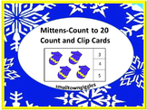 Winter Math: Mittens Count and Clip Cards, Count to 1-20