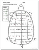 Mixed Number Addition - Like Denominators - Turtle Colorin