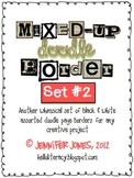 Mixed-Up Doodle Borders: Set 2 - Black/White (Set of 45)
