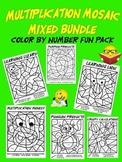 Mixed Up Multiplication Mosaics-Fun Multiplication Color B