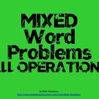 Mixed Word Problems All Operations PowerPoint