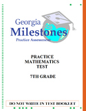Mock Georgia Milestones Math Practice Test Bundle
