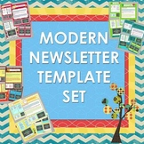 Modern Easy to Use Newsletter Templates Set of 14