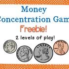 Money Concentration Games {FREEBIE!}