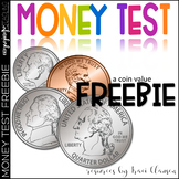 FREE Money Test - Coin Counting and Adding Practice / Assessment