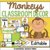 Classroom Decor- Monkeys
