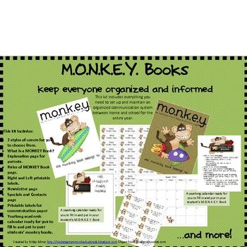 Monkey Communication Binder Kit