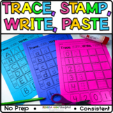 Capital Letters, Lowercase Letters, Numbers - Trace, Stamp