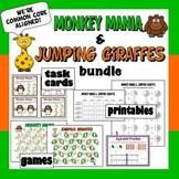 Monkey Mania & Jumping Giraffes – equivalent fraction game