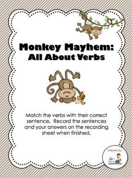Monkey Mayhem - All About Verbs