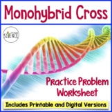 Monohybrid Cross Worksheet (Genetics Practice Problems wit