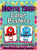 Monster Theme Color Posters ~ Full & Mini Sizes + Bonus Fl