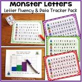 Monster Letters:  Letter Fluency and Student Data Tracker Pack