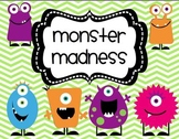 Monster Maddness Math and Literacy Unit