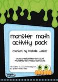 Monster Math Activity Pack