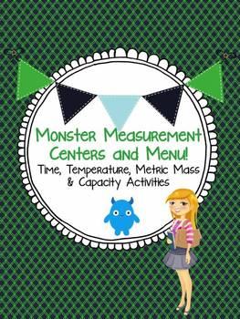 Monster Measurement Centers or Menu! Time, Temperature Mas