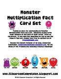 Monster Multiplication Fact Cards