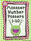 Monster Number Posters & Flashcards