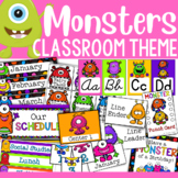 Monster Themed Classroom Decor and Organizational Pack