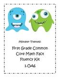 Monster Themed First Grade Common Core Math Fact Fluency Kit