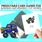 CVC word game:  Monster Truck  and Flat Tire CVC Game