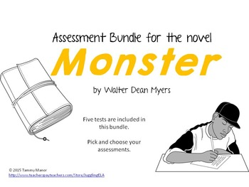 Assessment Bundle for the novel Monster by Walter Dean Myers