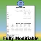 Monthly Behavior Management Plan