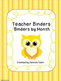 Monthly Binder Covers and Spine Labels