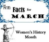 Monthly Fun Facts Book Mark- March